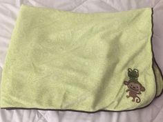 Carters Just one You Green Monkey Frog Brown Baby Blanket  | eBay