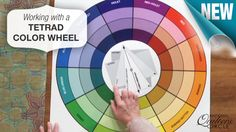 Use a tetrad color wheel to incorporate a colorful contrast in your next quilt…