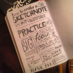 Sketchbook Sketchnote by Denise Bosler.Of course, mine would look like I was using my non-dominant hand. (artist-envy)