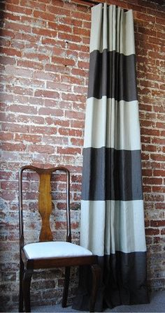 Striped Drapery Panel - Offered in 28 colors. Tons of sizes!