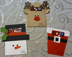 My Stamp Journey Creations: Adorable Christmas Gift Card Holders Gift Cards Money, Gift Card Cards, Gift Card Envelopes, Xmas Cards, Holiday Cards, Christmas Gift Card Holders, Diy Christmas Gifts, Christmas Paper Crafts, Christmas Projects