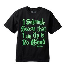 Boys 4-7 Harry Potter ''I Solemnly Swear That I Am Up To No Good'' Glow-In-The-Dark Tee, Boy's, Size: