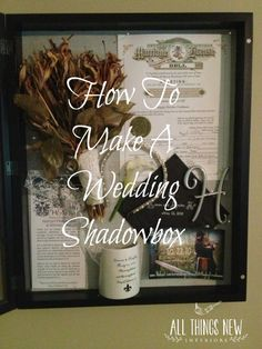 Prepare for your upcoming wedding by saving mementos for a shadow box! This is the perfect way to preserve special items from your big day. Save your bouquet (and have someone preserve it while you are on your honeymoon), marriage license, invitation, napkin, program, boutonniere, headband, cake topper, and party favor.