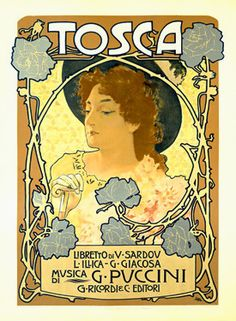 Nouveau Tosca Opera Vintage Poster Fine Art Giclee Print