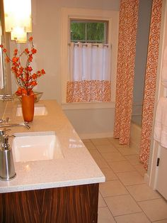 shower curtain and window treatment