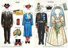 The Prince Charles and Princess Diana paper doll set.