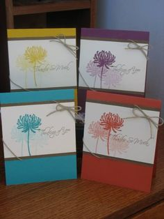 I made this set for my son's teacher.  It was so quick and easy to put together that I'm planning to use it for a stamp-a-stack or workshop.  Thanks to bethannwilson who's card here: http://www.splitcoaststampers.com/gallery/photo/1452891?&cat=17306  inspired the idea for the set!  I have to admit that I REALLY didn't like this year's in colors but the more I use them the more the grow on me!!  Thanks for looking and leaving a comment!  Daria