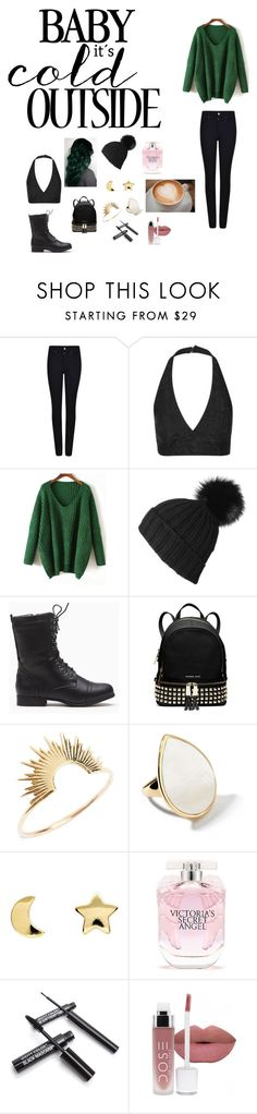 """Untitled #84"" by katiewest12 ❤ liked on Polyvore featuring Giorgio Armani, Topshop, MICHAEL Michael Kors, Sarah & Sebastian, Ippolita, Erica Weiner, Victoria's Secret, women's clothing, women's fashion and women"