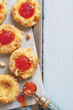 39 Ways with Fresh Tomatoes: Cornmeal Thumbprint Cookies with Tomato Jam