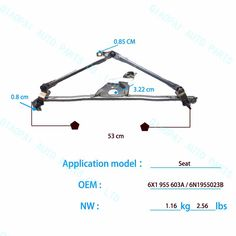 Check out this product on Alibaba.com APP Auto parts wholesale good quality Linkage Wipers 6N1955023B