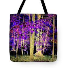 Night Tote Bag featuring the photograph Night Forest by Len-Stanley Yesh