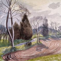 Landscape Near Hadleigh Paper: 61 x Edition size of This is a giclee print on cotton rag. By John Nash Landscape Prints, Landscape Art, Landscape Paintings, Landscapes, John Nash, English Artists, British Artists, Nature, Illustration Art