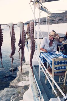 """Faros beach tavern on the Greek Island of Sifnos – found on """"places loved"""" by the inspirational photographer Carla Coulson. Santorini, Mykonos, Pays Europe, Places To Travel, Places To See, Albania, Greek Isles, Voyage Europe, Greece Travel"""