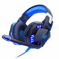 Cheapest Kotion EACH Computer Stereo Gaming Headphones Best casque Deep Bass Game Earphone Headset with Mic LED Light for PC Gamer Cheap Headphones, Gaming Headphones, Wireless Headset, Gaming Headset, Pc Gamer, Gamer News, Ps4, Headphone With Mic, Gaming Accessories