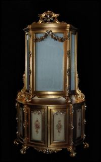 Small/183 This ITALIAN CARVED GILTWOOD VITRINE Is Item Number 183 In The
