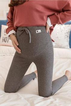 Maternity Pants Soft Slim Adjustable Waist Pregnant Women Leggings Pregnancy Clothes Pants