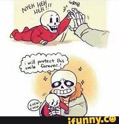 Sans and baby bones papyrus
