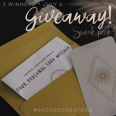 To celebrate our new oracle deck I am giving away 3 sneak peek prizes! One week only you will receive a #soulpreneur oracle card in the mail (this deck hasn't been released yet!) along with it's essential meanings and a hand-written mini-reading for your #business or your creator soul! You can use this as your personal #soulpreneur mantra for the month or as a way to deep dive with unique marketing ideas.  I believe that bringing serendipity and intuition into you #businessplan allows your…