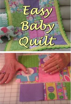 Learn how to make an easy baby quilt for a newborn with this excellent video tutorial. This is a beginner friendly project you'll love. Baby Quilt Tutorials, Baby Quilt Patterns, Baby Sewing Projects, Quilting Projects, Art Quilting, Owl Patterns, Quilting Tutorials, Sewing Ideas, Sewing Patterns