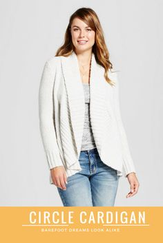 Cozy circle cardigan like Barefoot Dreams but at a fraction of the price! This would go great with any outfit or lounging around the house. #fall #cardigan #barefootdreams #target #cozy