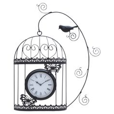 Birdcage Wall Clock, absolutely adorbs!