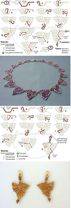 Mar 2018 - DIY Jewelry: FREE beading pattern for embellished triangle earrings made from bugle beads and seed beads in a beautiful geometric design. Seed Bead Jewelry, Bead Jewellery, Seed Bead Earrings, Beaded Earrings, Beaded Bracelets, Necklaces, Seed Beads, Beading Patterns Free, Bead Patterns