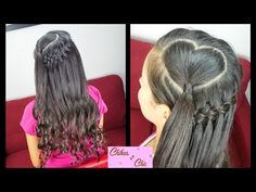 Heart into Faux Waterfall Braid | Valentine's day Hairstyles | Chikas Chic - YouTube