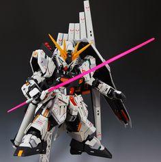 SD + MG 1/100 Nu Gundam Ver. Ka - Custom Build