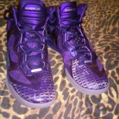 Purple Nike Hyperfuse sneaker Purple/Gray Nike Shoes