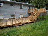 Custom deck build by Jon Wetzel, Sunset Decks, Snohomish County. Multitier Deck.