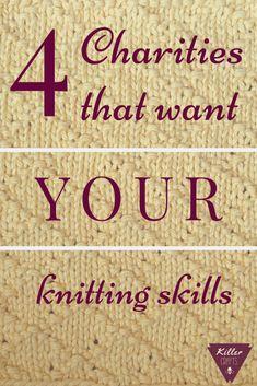 4 Charities that need YOUR knitting skills – Knitting Patterns Free Knitting Help, Knitting For Charity, Loom Knitting, Knitting Stitches, Knitting Needles, Hand Knitting, Knitting Machine, Easy Knitting Patterns, Knitting Projects