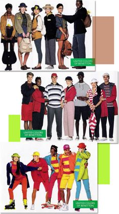 1988-1989. More colorful, eclectic looks and styling from Benetton. http://justseventeen.tumblr.com