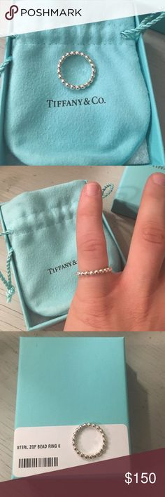 Selling this Tiffany & Co Ziegfeld Bead Ring on Poshmark! My username is: rachk85. #shopmycloset #poshmark #fashion #shopping #style #forsale #Tiffany & Co. #Jewelry