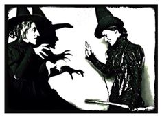 The Wicked Witch & Elphaba - I love this