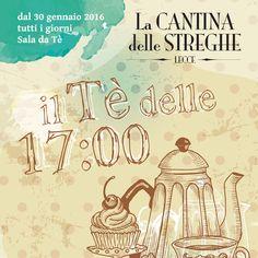 La Cantina delle Streghe è anche SALA DA TE'. Ogni giorno, dalle 17.00, tantissimi Tè, Tisane e dolci artigianali...