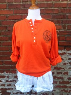Vintage sweatshirt UT University of Tennessee VOLS henley Knoxville S M retro college football by EyeSpyBetty on Etsy https://www.etsy.com/listing/158476060/vintage-sweatshirt-ut-university-of