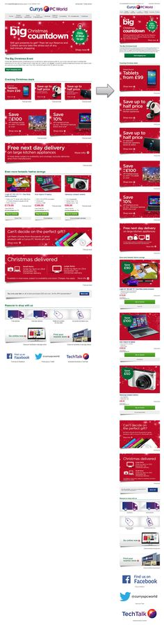 Responsive Email Design from Currys