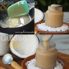 Huumm, esta delicia surpreende, o Leite Condensado de Coco Caseiro, é  fácil de preparar, sem lactose e sem glúten.  #Receita aqui: http://www.gulosoesaudavel.com.br/2015/09/14/leite-condensado-coco-caseiro/