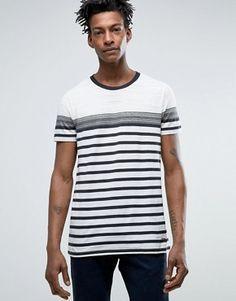 920de78c880 ASOS CURVE Ahoy Heart Nautical Stripe Boyfriend T-Shirt at asos.com