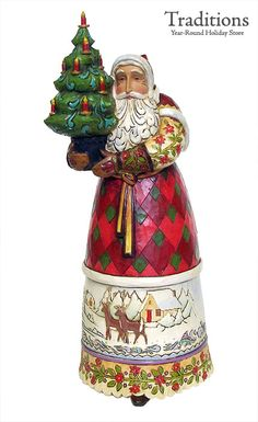 JIM SHORE  LIGHT OF THE SEASON TO GUIDE THE WAY SANTA  Resin 11x5""