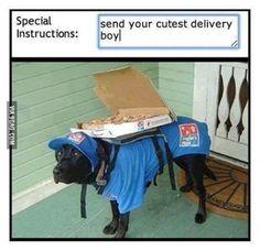 Cutest delivery boy around