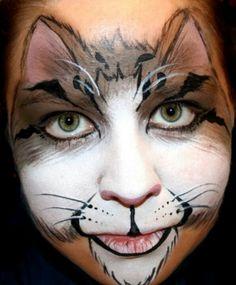 Face paint cat design