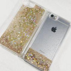 Gold Liquid Glitter Case