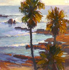 Evening Palms by Jim Wodark Oil ~ 12 x 12