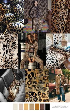 ANIMAL INSTINCT - color, print & pattern trend inspiration for FW 2019 by Pattern Curator.Pattern Curator is a trend service for color, print and pattern inspiration. Fashion Colours, Colorful Fashion, Animal Instinct, Pattern Curator, Motif Leopard, Color Stories, Looks Cool, Color Trends, Fashion Prints