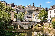 Luxembourg City, Grund, Bridge over Alzette River by Reinhardt, via Dreamstime