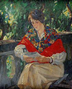 Leitura, s/d José Marques Campão (Brasil, 1802-1949) óleo sobre tela, 63 x 70 cm