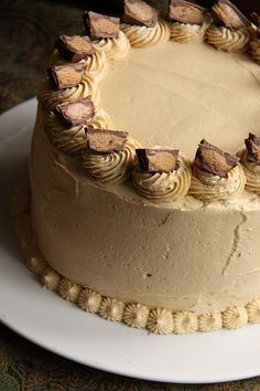 Chocolate Cake with Peanut Butter Icing by he_arthur, via Flickr