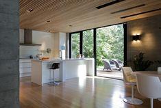 Kjøkken med fin betongbruk