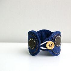 Wool Felt Bracelet Wristband Cuff // Hand by LoftFullOfGoodies, $22.00
